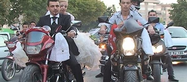 Motosiklet Gelin Aracı Oldu