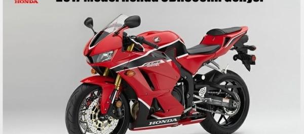 2017 Model Honda CBR600RR Geliyor