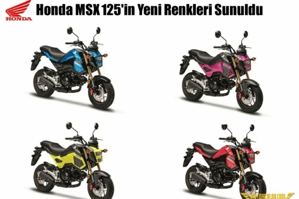 Honda MSX 125'in Yeni Renkleri Sunuldu