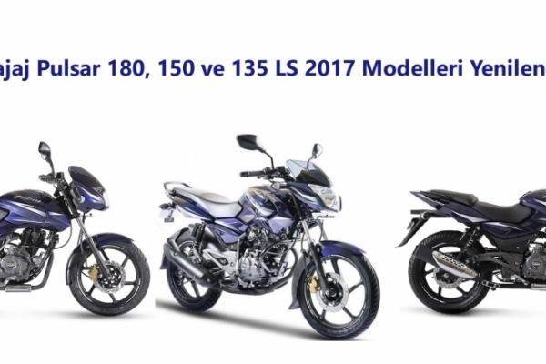 Bajaj Pulsar 180, 150 ve 135 LS 2017 Modelleri Yenilendi