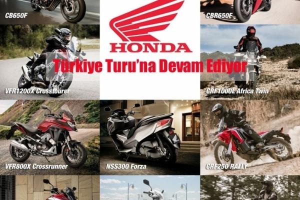 Honda Motosiklet Modelleri Türkiye Turu'na Devam Ediyor