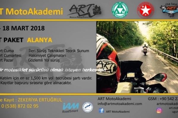 ART Paket Alanya 16-18 Mart 2018