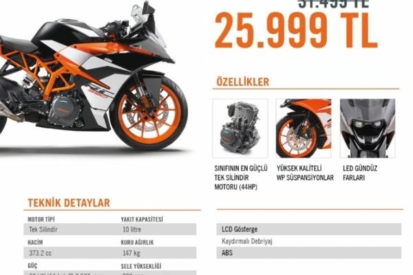 Rakipsiz RC390 Rakipsiz Fiyat