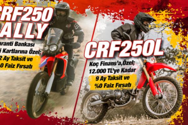 CRF250 RALLY ve CRF250L Aralık Kampanyası