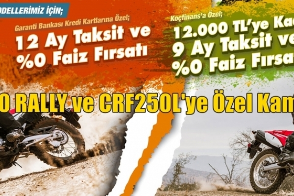 CRF250 RALLY ve CRF250L'ye Özel Kampanya