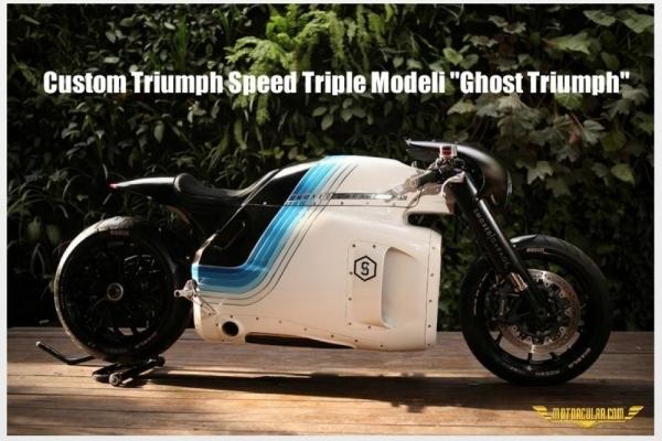 Custom Triumph Speed Triple Modeli 'Ghost Triumph'