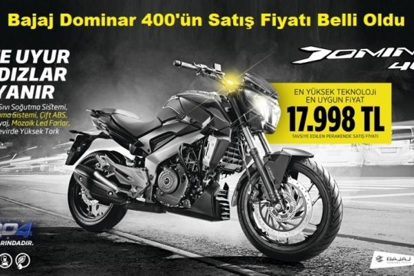 Bajaj Dominar 400'ün Satış Fiyatı Belli Oldu