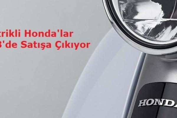 Elektrikli Honda'lar 2018'de Satışa Çıkıyor