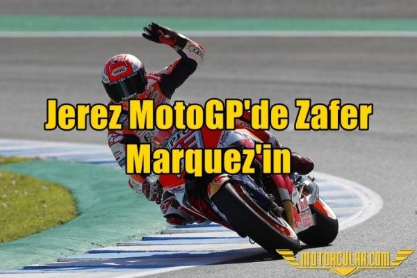 Jerez MotoGP'de Zafer Marquez'in