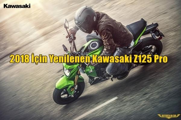 2018 İçin Yenilenen Kawasaki Z125 Pro