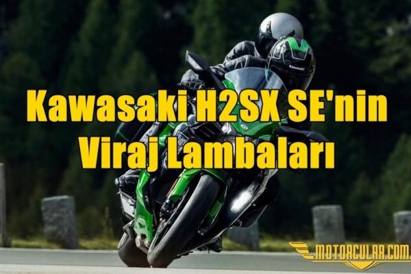 Kawasaki H2SX SE'nin Viraj Lambaları