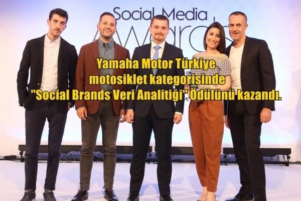 Social Media Awards Turkey'de Yamaha Motor Türkiye, motosiklet kategorisinde 'Social Brands Veri Analitiği Ödülü'nü kazandı.