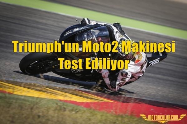 Triumph'un Moto2 Makinesi Test Ediliyor