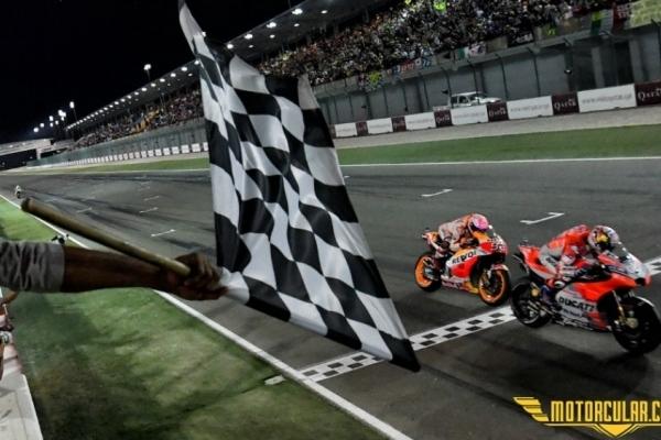 Katar MotoGP'sini Dovizioso Kazandı