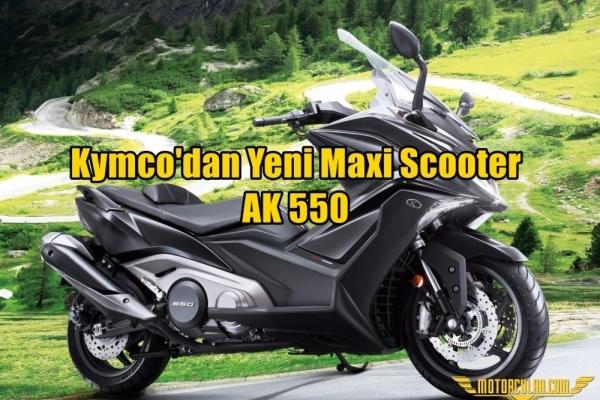 Kymco'dan Yeni AK550 Maxi Scooter Modeli