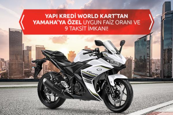 Yapı Kredi World Kart'tan Yamaha'ya Özel Uygun Faiz Oranı ve 9 Taksit İmkanı