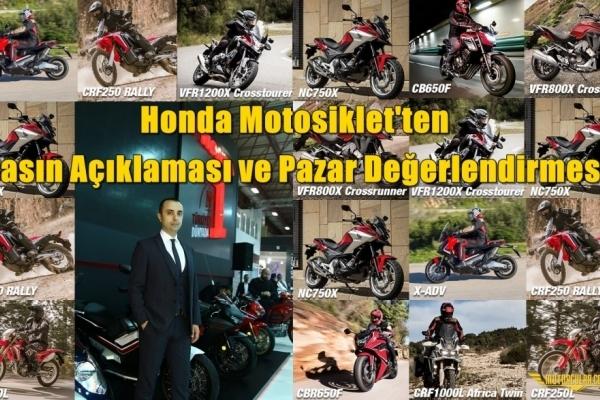 Honda Motosiklet'ten Basın Açıklaması ve Pazar Değerlendirmesi