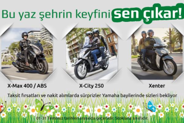 Yamaha ile Bu Yaz Şehrin Keyfini Sen Çıkar!