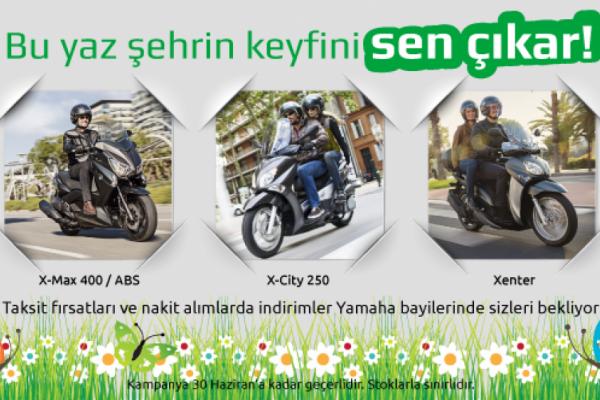 Yamaha'dan X-Max 400 / ABS, X-City 250 ve Xenter Kampanyası