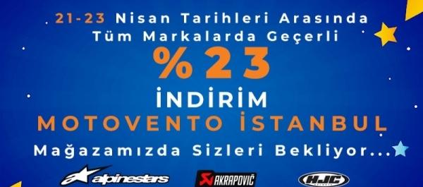 23 Nisan'da Motovento İstanbul Mağazası'nda Bayram Var