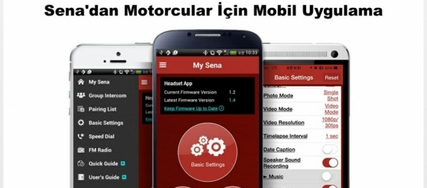 Sena'dan Motorcular İçin Mobil Uygulama