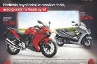 Honda marka CBR 500R ve Forza motosikletlerde indirim