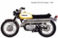 Kawasaki 350 A7ss Avenger - 1969