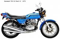 Kawasaki 750 H2 MachIV - 1972