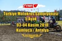 TMF Türkiye Motokros Şampiyonası 2018 5.Ayak