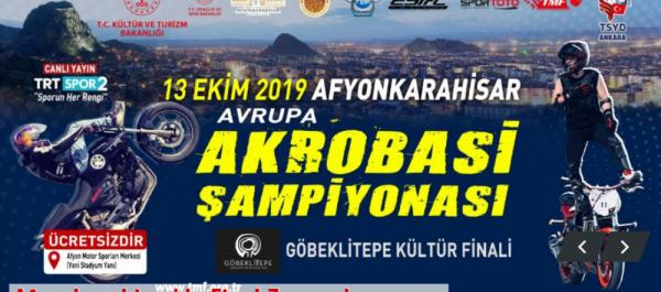 Avrupa Akrobasi Şampiyonası'nın finali 12-13 Ekim tarihlerinde Afyonkarahisar'da yapılacak.
